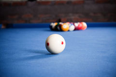 Boules de billard/photo de style de vintage des boules de billard dedans Photographie stock