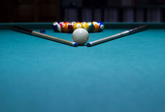 Boules de billard - piscine Photographie stock