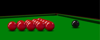 Boules de billard sur la table Illustration de vecteur Photographie stock libre de droits