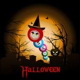 Boules de bingo-test avec le fond de chapeau de Halloween Images stock