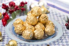 Boules de bonbons au chocolat Photo stock