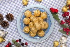 Boules de bonbons au chocolat Image stock
