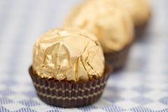 Boules de bonbons au chocolat Photographie stock