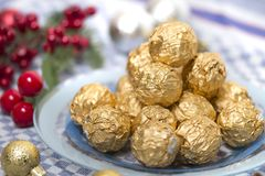 Boules de bonbons au chocolat Images stock