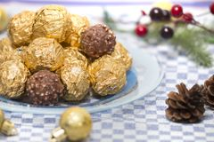 Boules de bonbons au chocolat Photo libre de droits