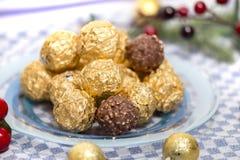 Boules de bonbons au chocolat Images libres de droits