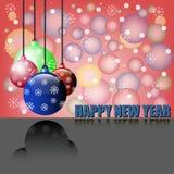Boules de bonne année et de Noël Images stock