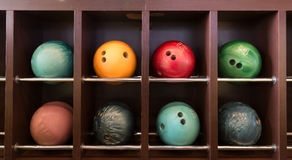Boules de bowling Image libre de droits