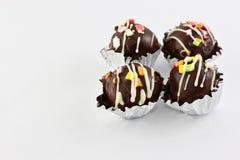 Boules de chocolat Photos libres de droits