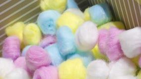 Boules de coton colorées Photo libre de droits