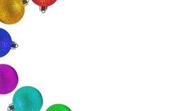 Boules de couleurs pour l'arbre de Noël photographie stock
