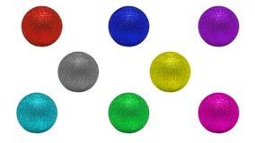 Boules de couleurs pour l'arbre de Noël photographie stock libre de droits