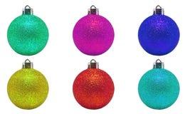 Boules de couleurs pour l'arbre de Noël image libre de droits