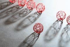 Boules de fil réglées Image stock