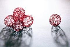 Boules de fil réglées Photo stock