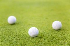 Boules de golf Photos libres de droits