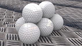 Boules de golf Image stock