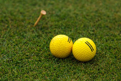 Boules de golf Photo libre de droits