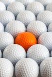 Boules de golf blanches Photographie stock