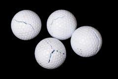 Boules de golf criquées illustration stock