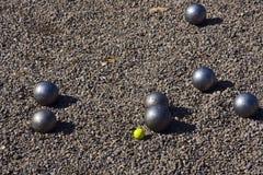 boules de jeu petanque 图库摄影