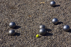 boules de jeu petanque Arkivbild