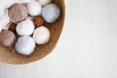 Boules de laine Photo libre de droits