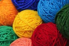 Boules de laine de fil Images libres de droits