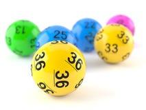 Boules de loterie Image stock