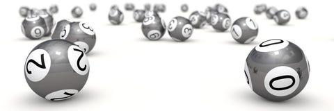 boules de loterie avec la profondeur du champ illustration de vecteur