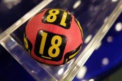 Boules de loterie pendant l'extraction Image libre de droits