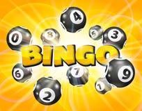 Boules de loto autour du bingo-test de mot illustration de vecteur
