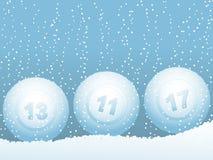 Boules de neige de bille de loterie de bingo-test Image libre de droits