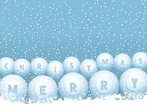 Boules de neige de Noël de bille de loterie de bingo-test illustration stock