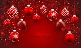 Boules de Noël illustration stock