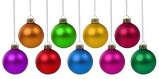 Boules de Noël accrochant la décoration colorée de babioles photos libres de droits