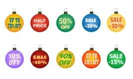 Boules de Noël avec des offres promotionnelles illustration libre de droits