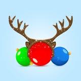 Boules de Noël avec l'andouiller Photo libre de droits
