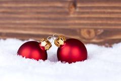 Boules de Noël avec l'espace de copie Image stock