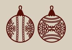 Boules de Noël avec le modèle de dentelle Photo libre de droits