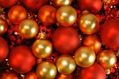 Boules de Noël comme fond de Noël Photo libre de droits