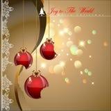 Boules de Noël de Bited Photo stock