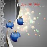 Boules de Noël de Bited Photographie stock