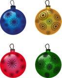 Boules de Noël de nouvelle année illustration de vecteur