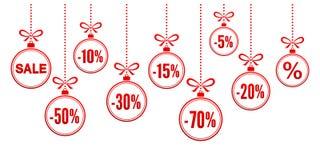 Boules de Noël de remise illustration stock