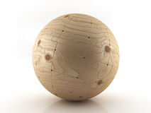 Boules de puzzle en bois Image libre de droits