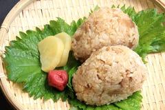 Boules de riz de riz de poulet Photos libres de droits
