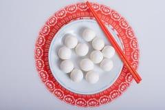Boules de riz visqueuses de chinois traditionnel Images stock