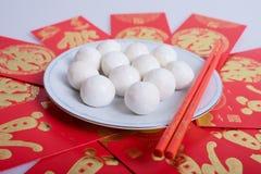 Boules de riz visqueuses de chinois traditionnel Images libres de droits