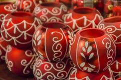 Boules de rouge de Noël Image stock